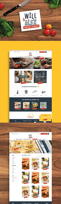 Will&Alex : réalisation du site internet E-commerce par l'agence de communication 15.100.17