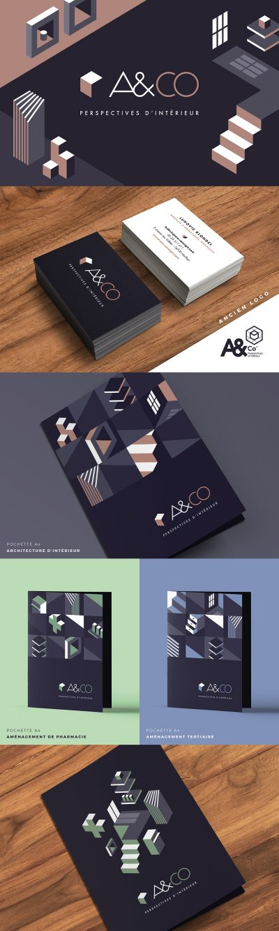 A&CO : réalisation de l'identité visuelle, du site internet, et des supports de communication par l'agence de communication 15.100.17