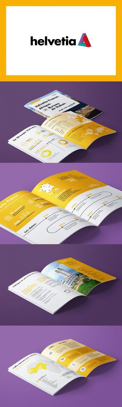 Helvetia : brochure par l'agence de communication 15.100.17