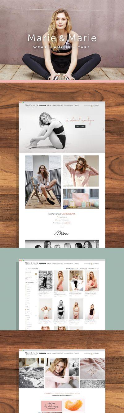 Marie & Marie : réalisation du site internet E-commerce par l'agence de communication 15.100.17
