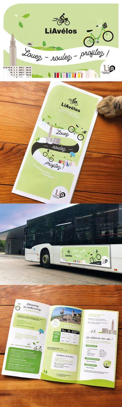 Lia vélos : communication visuelle par l'agence de communication 15.100.17