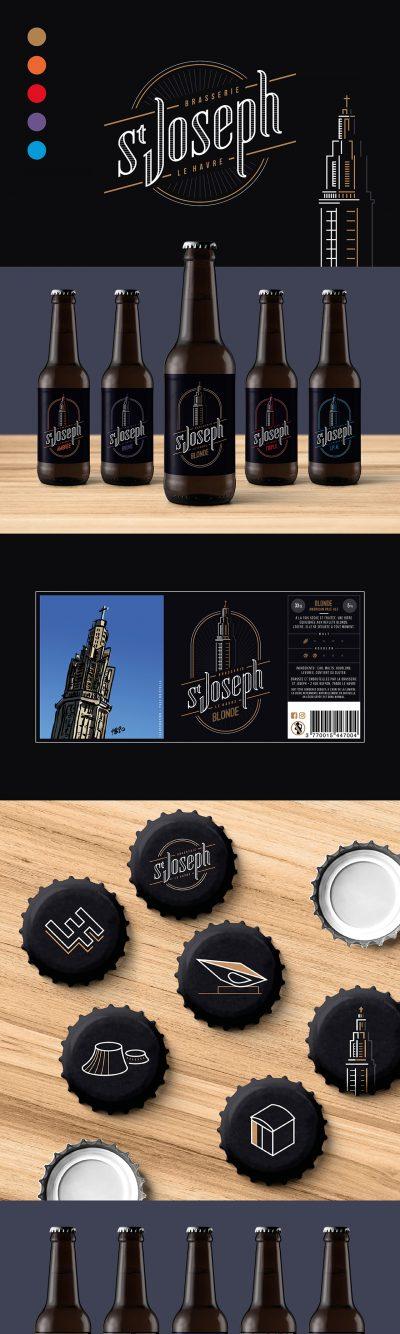 Brasserie St Joseph : packaging par l'agence de communication 15.100.17