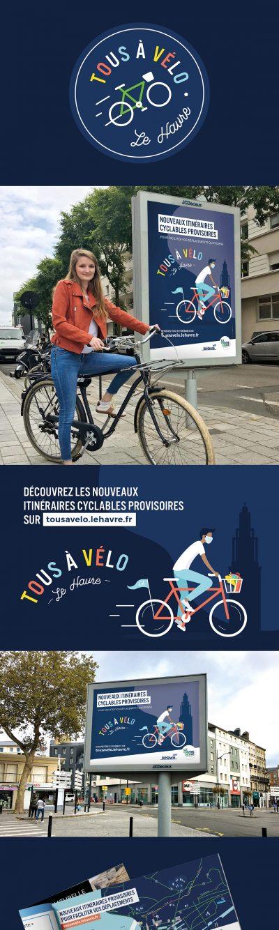 Ville du Havre • Tous à Vélo : campagne d'affichage par l'agence de communication 15.100.17